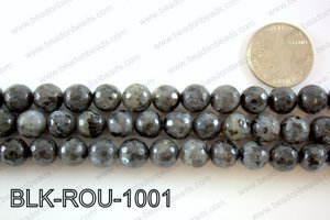 Black Labradorite faceted round 10mmBLK-ROU-1001