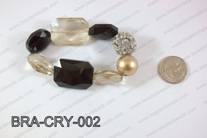 Bracelet with crystals and rhinestone ball BRA-CRY-002
