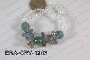 Crystal Bracelet Green/Purple 12mm BRA-CRY-1203