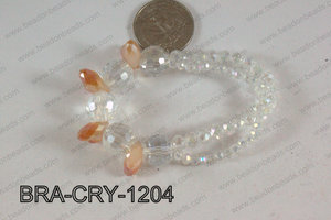 Crystal Bracelet Peach 12mm BRA-CRY-1204