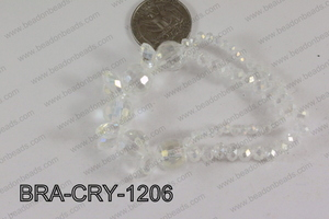 Crystal Bracelet Clear AB 12mm BRA-CRY-1206