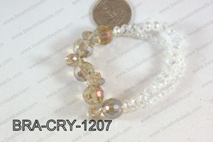 Crystal Bracelet Chamagne AB 12mm BRA-CRY-1207