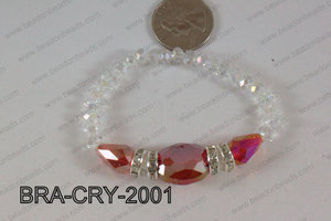 Crystal Bracelet Red AB 20x16mm BRA-CRY-2001