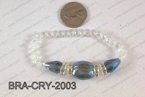 Crystal Bracelet Blue 20x16mm BRA-CRY-2003