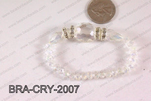 Crystal Bracelet Clear AB 20x16mm BRA-CRY-2007