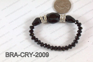 Crystal Bracelet Black 20x16mm BRA-CRY-2009