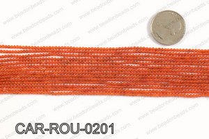 CARNELIAN ROUND 2mm CAR-ROU-0201