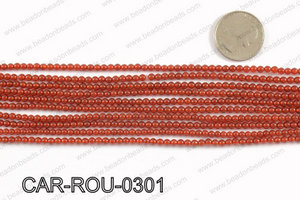 CARNELIAN ROUND 3mm CAR-ROU-0301