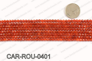 CARNELIAN FACETED ROUND 4mm CAR-ROU-0401