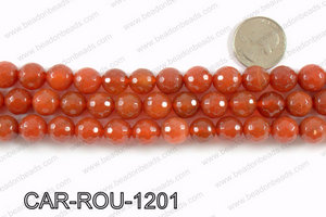 CARNELIAN FACETED ROUND 12mm CAR-ROU-1201