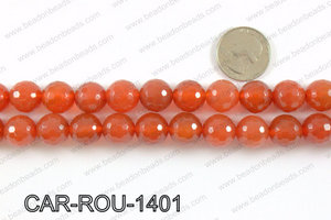 CARNELIAN FACETED ROUND 14mm CAR-ROU-1401