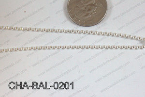 Ball Chain Light Silver 2mm CHA-BAL-0201