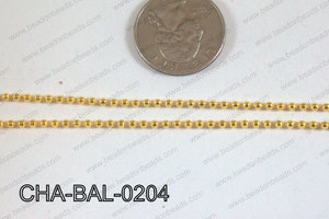 Ball Chain Gold 2mm CHA-BAL-0204