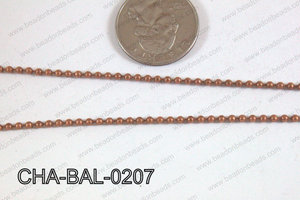 Ball Chain Copper 2mm CHA-BAL-0207