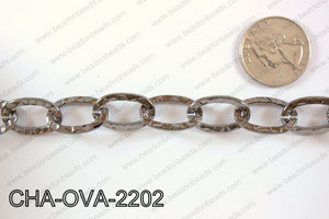 Chain Oval Gun Metal 22mm 16.4' CHA-OVA-2202