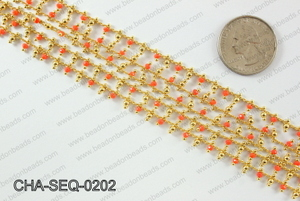 Seed bead dangle chain 2mm CHA-SEQ-0202