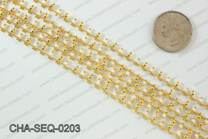 Seed bead dangle chain 2mm CHA-SEQ-0203