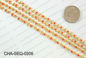 Seed bead dangle chain 2mm CHA-SEQ-0205