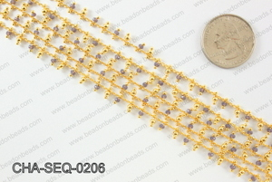 Seed bead dangle chain 2mm CHA-SEQ-0206