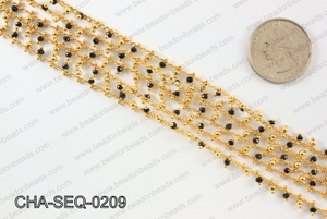Seed bead dangle chain 2mm CHA-SEQ-0209