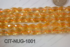 Citrine Nugget Faceted 10mm CIT-NUG-1001