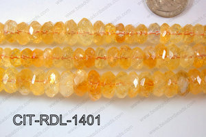 Citrine Rondel Faceted 14mm CIT-RDL-1401
