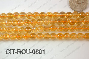Citrine Round 8mm CIT-ROU-0801