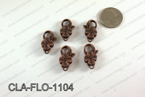 Flower Lobster Clasp, Copper 11x25mm CLA-FLO-1104