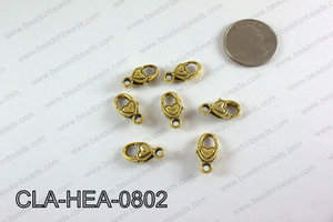 Heart Lobster Clasp, Gold 8x18mm CLA-HEA-0802