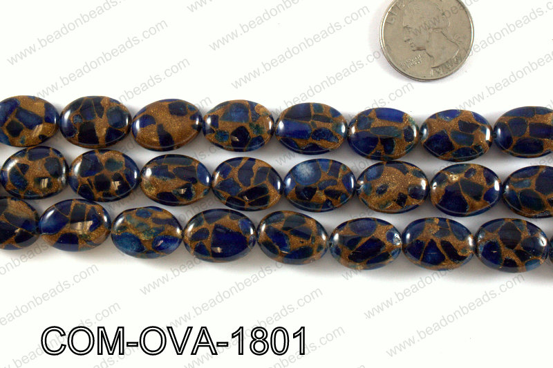Composite Golden Quartz Oval 14x18mm COM-OVA-1801