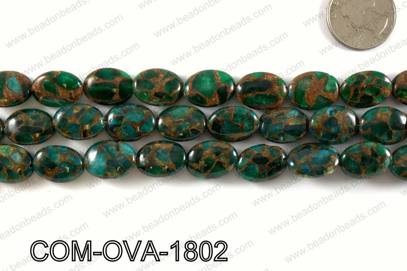 Composite Golden Quartz Oval 14x18mm COM-OVA-1802