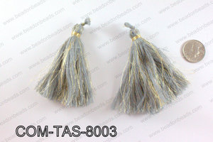 Thread tassels 90mm, GreyCOM-TAS-8003