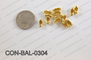 Ball chain connector around 4x10 mm gold  CON-BAL-0304