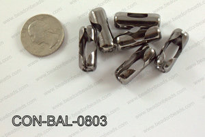 Ball chain connector around 10x24 mm gun metal  CON-BAL-0803