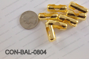 Ball chain connector around 10x24 mm gold  CON-BAL-0804