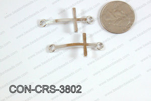 Sideway cross connector cross Dark Silver 17x38mm CON-CRS-3802
