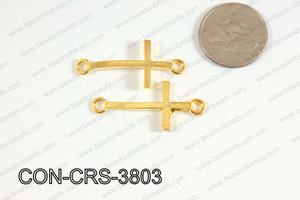Sideway cross connector cross Gold 17x38mm CON-CRS-3803