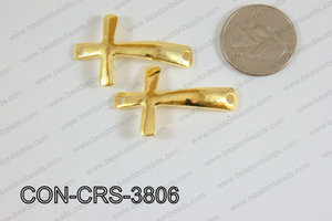Sideway cross connector cross gold 24x38mm CON-CRS-3806