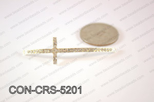 Sideway cross connector,Light silver 15x52mm CON-CRS-5201