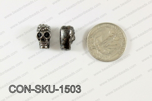 Sideway Skull connector Gunmetal 9x15mm CON-SKU-1503