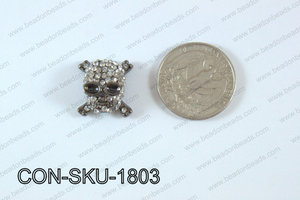 Sideway Skull connector gunmetal 16x18mm CON-SKU-1803