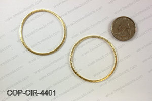 Gold plated flat circle, 44mm COP-CIR-4401