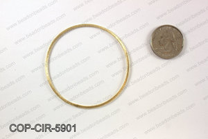 Gold plated flat circle, 59mm COP-CIR-5901