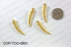 Gold plated tooth pendant, 8x41mm COP-TOO-0801