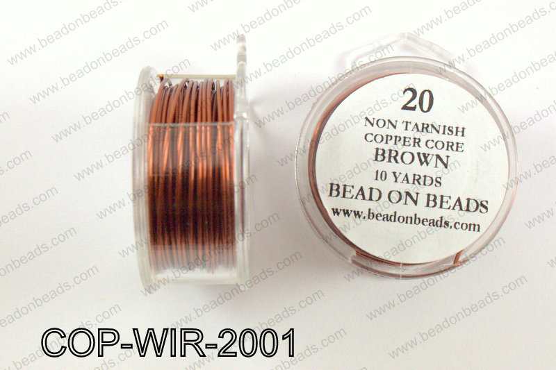Non Tarnish copper core wrapping wire 20 gauge, BrownCOP-WIR-200