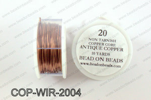Non Tarnish copper core wrapping wire 20 gauge, Antique copperCO