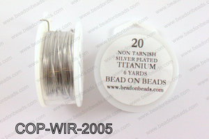 Non Tarnish silver plated wrapping wire 20 gauge, TitaniumCOP-WI