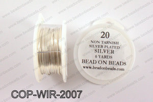 Non Tarnish silver plated wrapping wire 20 gauge, SilverCOP-WIR-