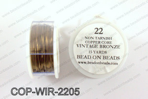 Non Tarnish copper core wrapping wire 22 gauge, Vintage bronzeCO