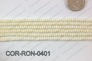Coral Rondel 4mm COR-RON-0401
